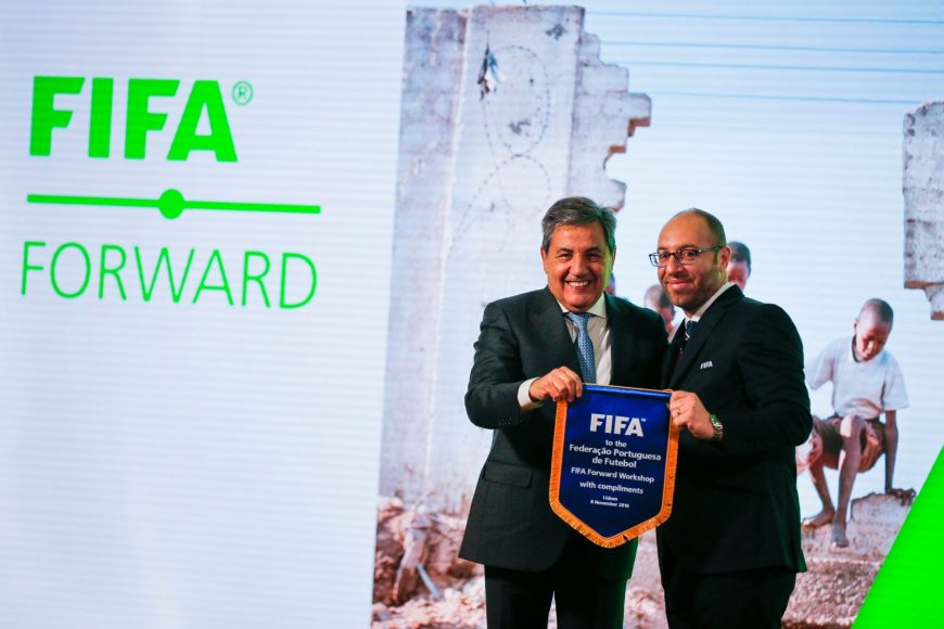 BJORN VASSALLO WITH FERNANDO GOMES, PRESIDENT OF THE PORTUGAL FOOTBALL FEDERATION