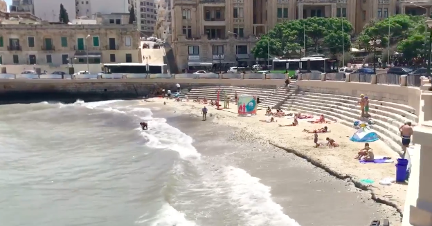 Footage of Balluta Bay published yesterday. Photo: The Malta Independent