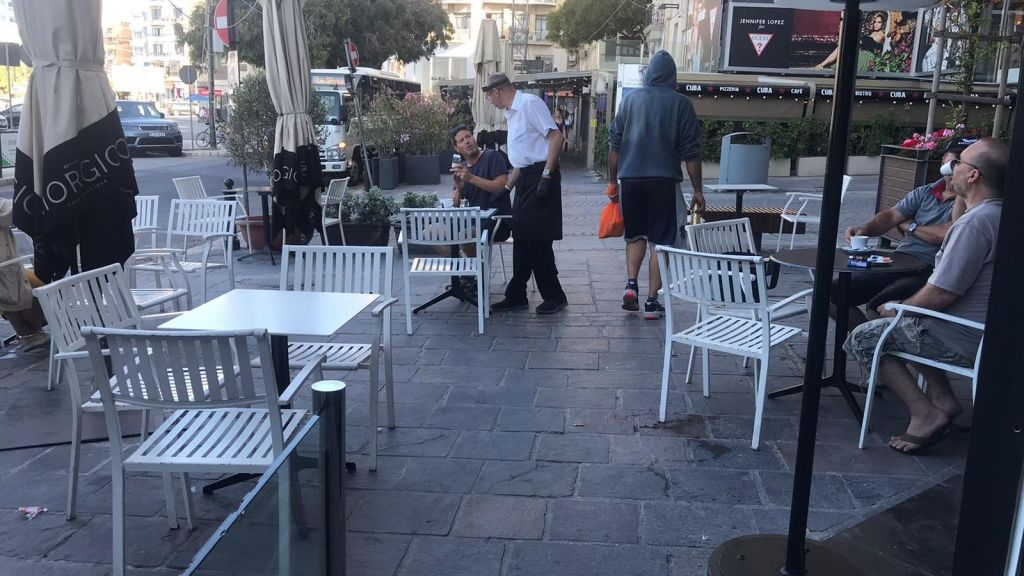 Pictured above: a Sliema Cafe' that was ready to go on Friday morning