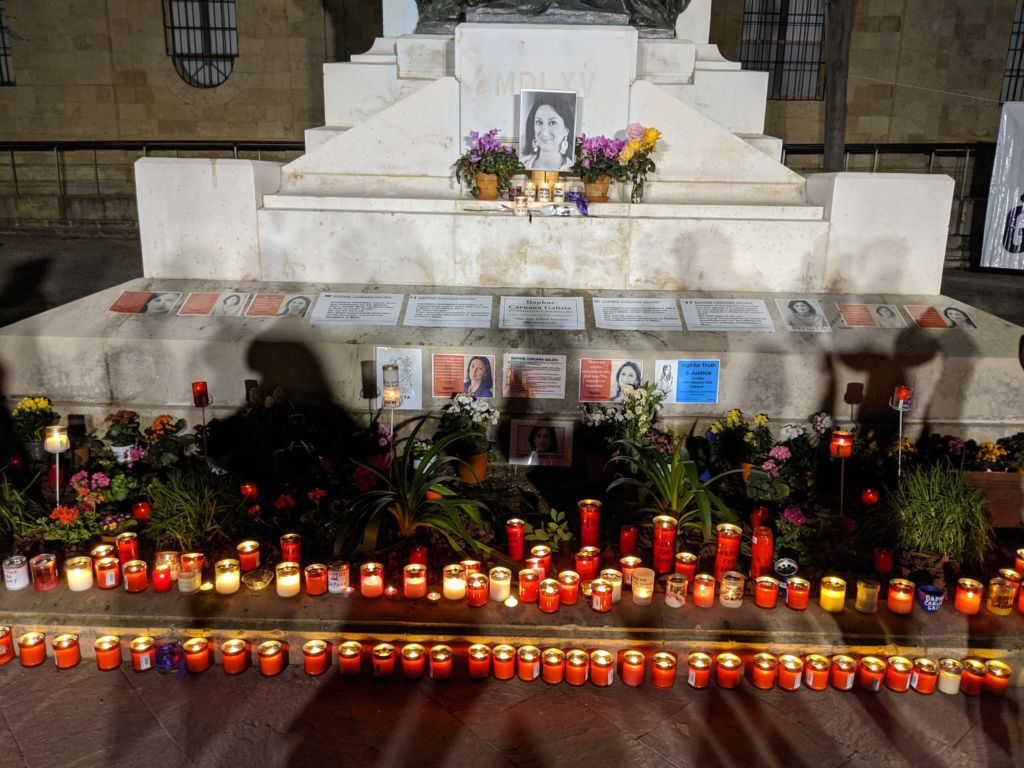 The clearing of the memorial to Daphne Caruana Galizia is in clear breach of activists' fundamental right to freedom of expression