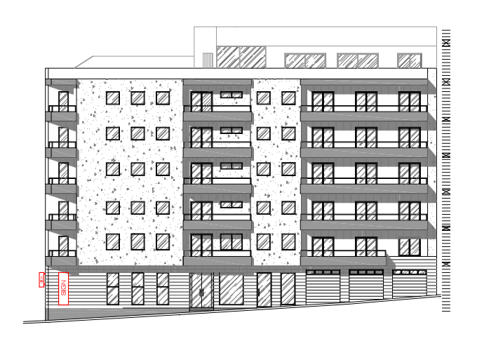 The updated elevation