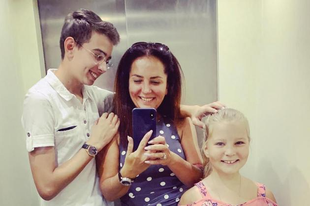 Evgenia Buyakevich with her two children